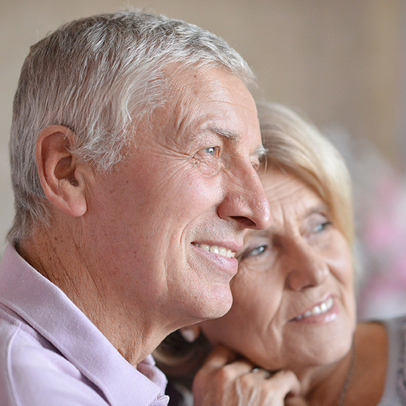 Image of Elderly Couple Looking Happy